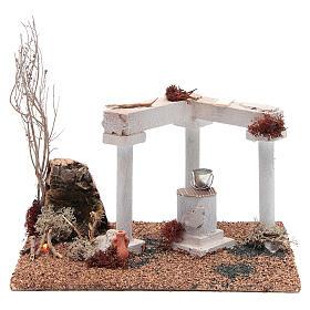 Forni e fuochi presepe: Ambientazione araba pozzo e fuoco led 25x20xh15 cm