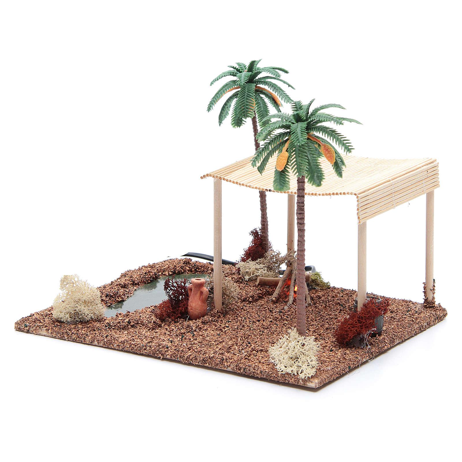 Namiot arabski i ogień led 25x20xh15 cm 4
