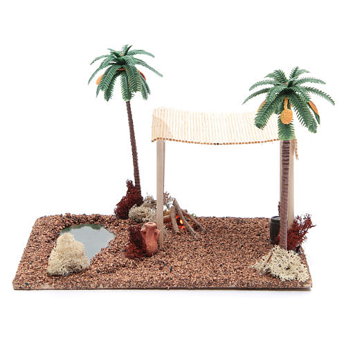 Arabian pavillion and led fire 25x20xh15 cm 1