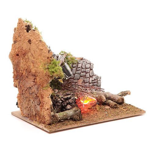Electric fire 15x15x10 cm 3