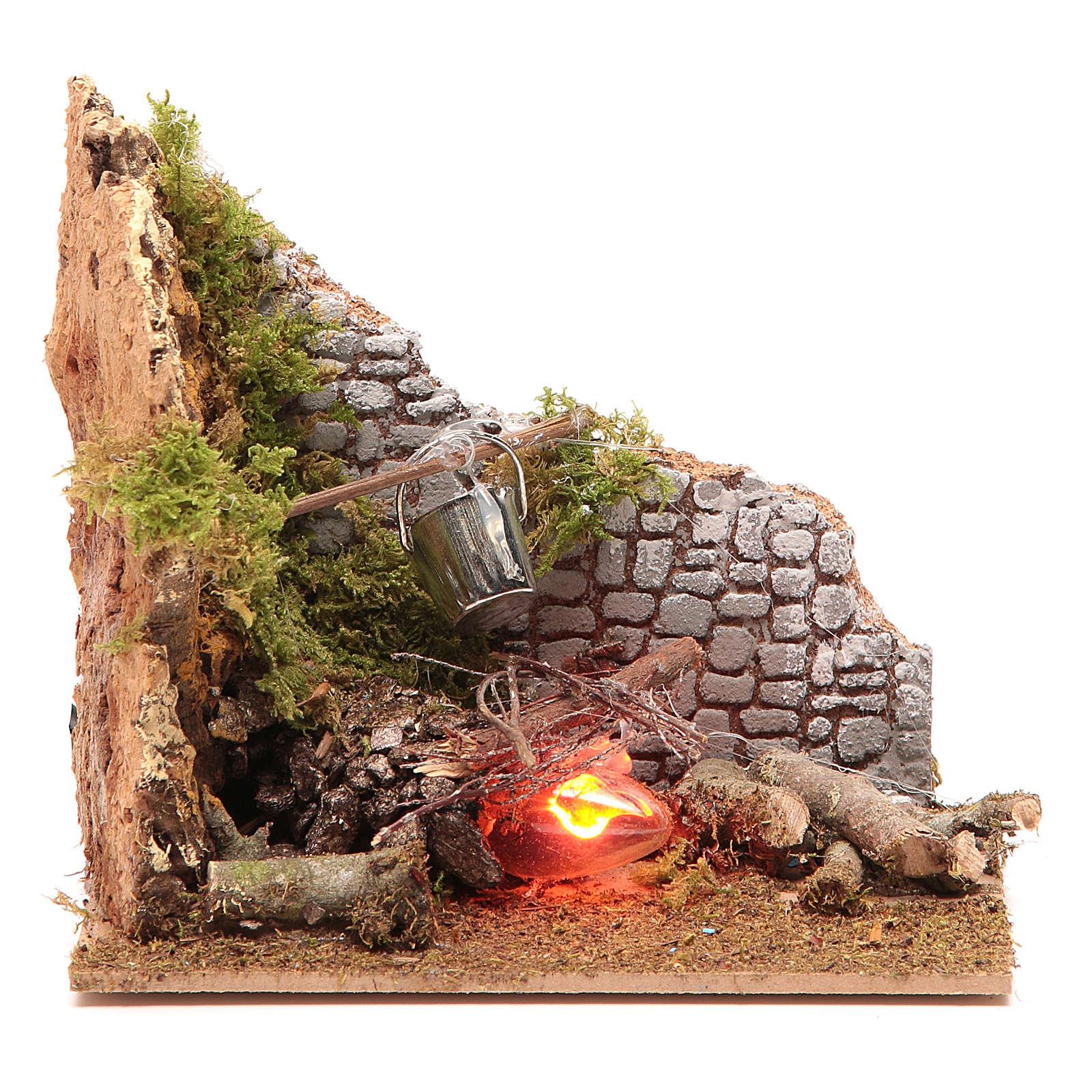 Fuego eléctrico 15x15x10 cm 4