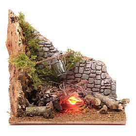 Hornos y fogatas para el belén: Fuego eléctrico 15x15x10 cm
