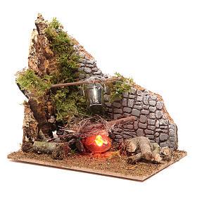 Electric fire 15x15x10 cm s2