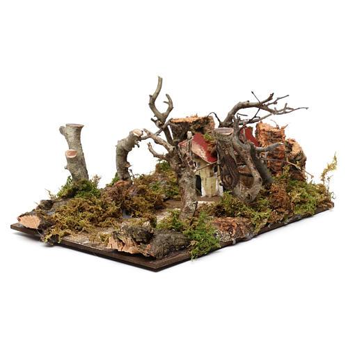 Paysage avec maisons et arbres 5x20x15 cm 2