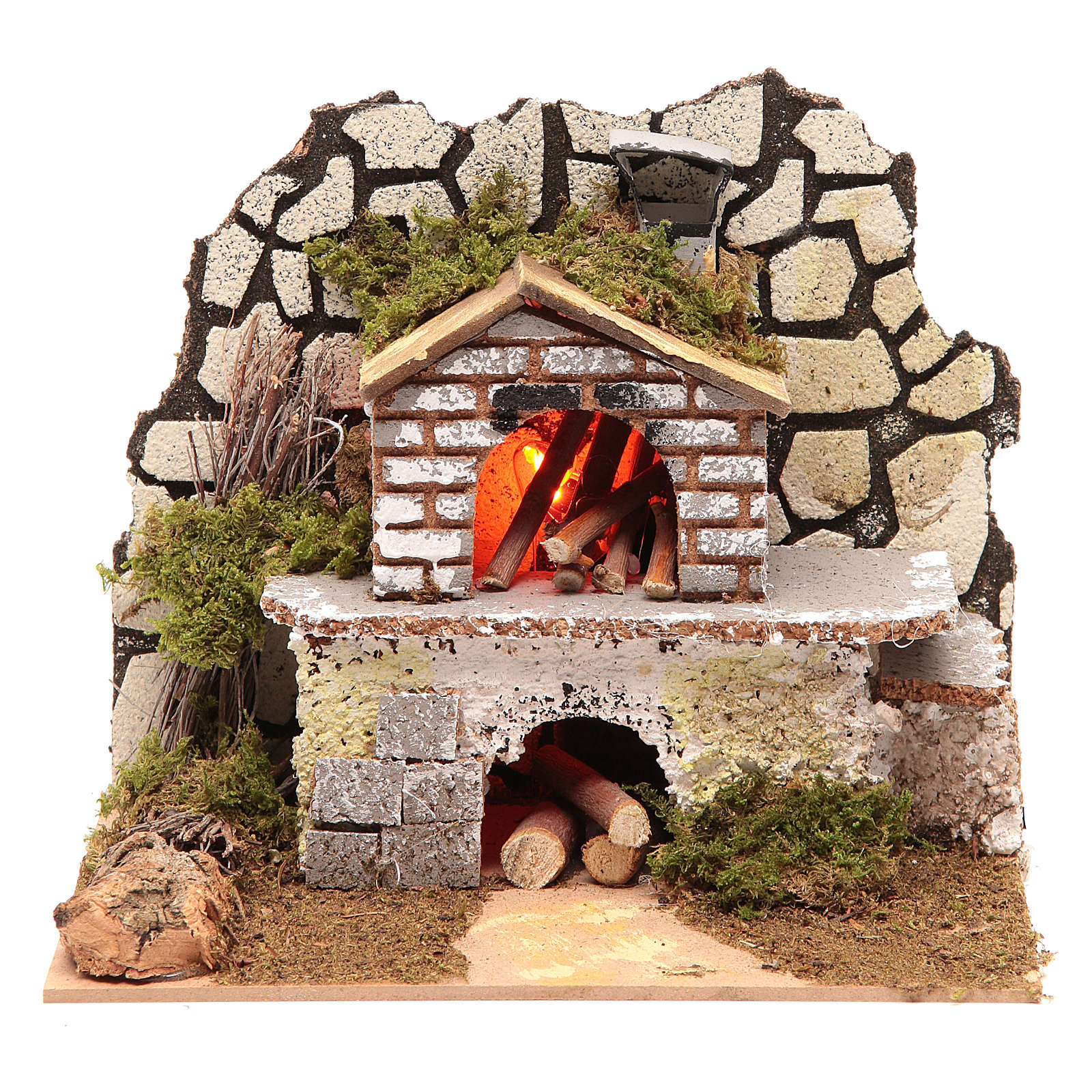 Electric oven with a flame effect lamp 4
