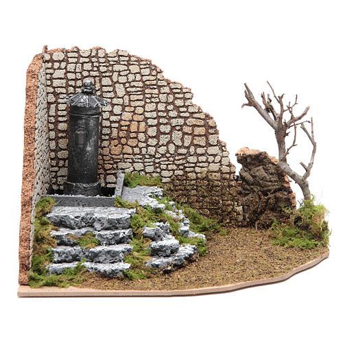 Fuente de plaza a ángulo para belén 1