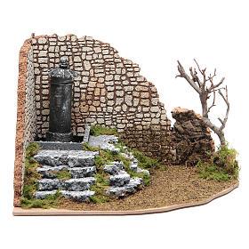 Fontana di piazza ad angolo per presepe s1