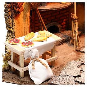 Illuminated oven scene 30x30x30 cm for Neapolitan nativity scene s6