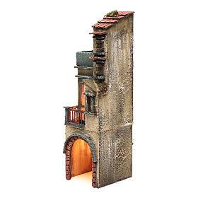 Bourgade pour crèche napolitaine 35x10x10 cm éclairée s2