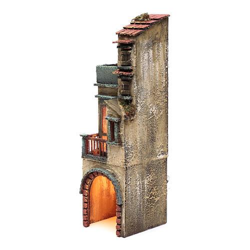 Bourgade pour crèche napolitaine 35x10x10 cm éclairée 2