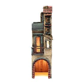 Borgo per presepe napoletano 35x10x10 illuminato s1