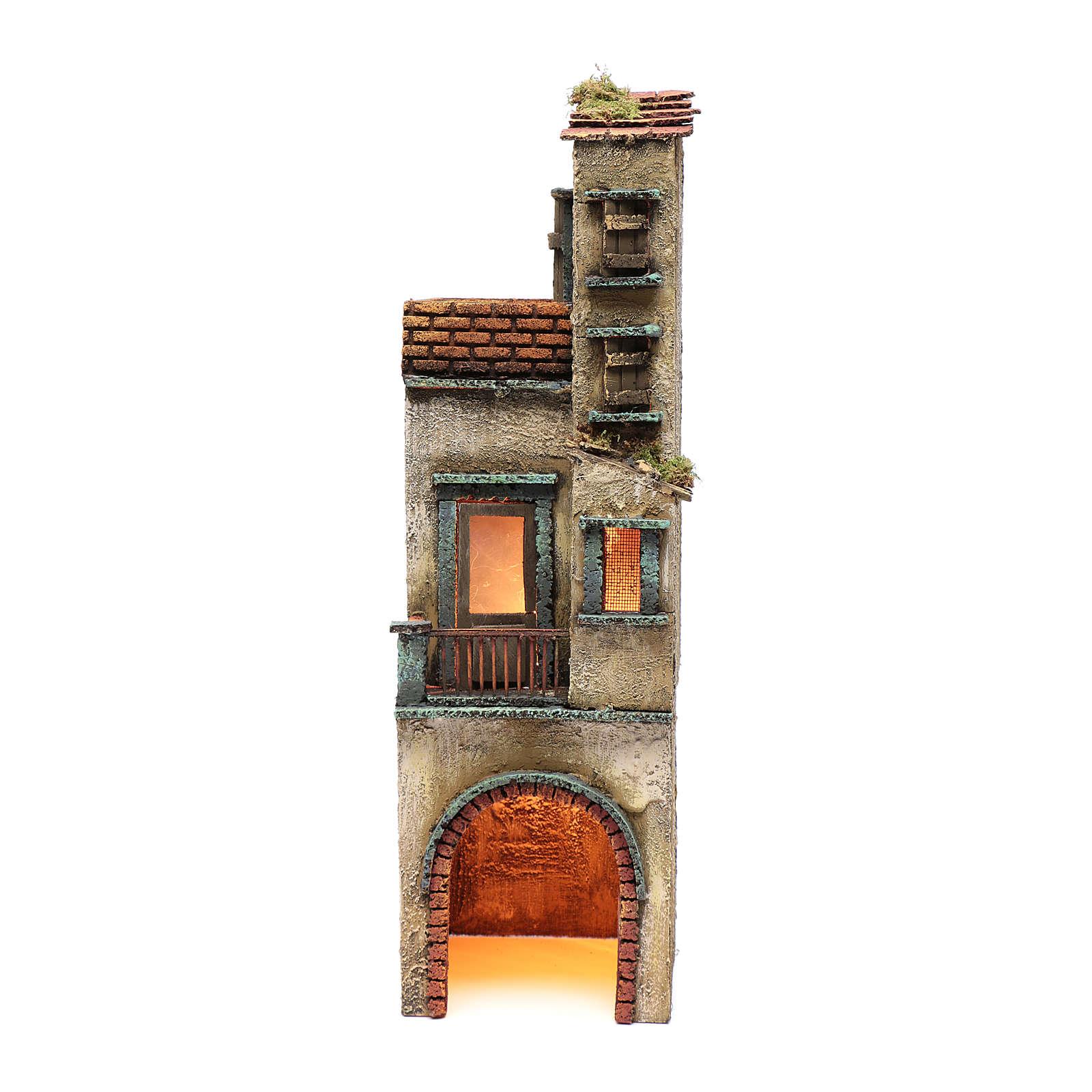 Borgo per presepe napoletano 50x15x15 4