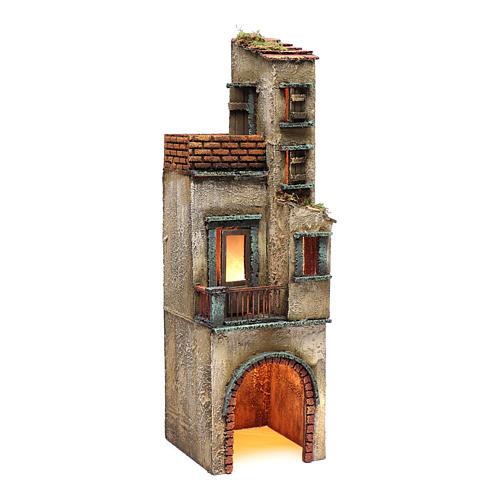 Borgo per presepe napoletano 50x15x15 3