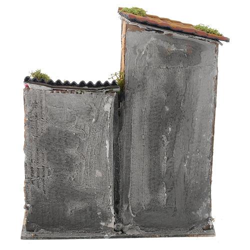 Casolare per presepe 30x25x35 cm con terrazza 4