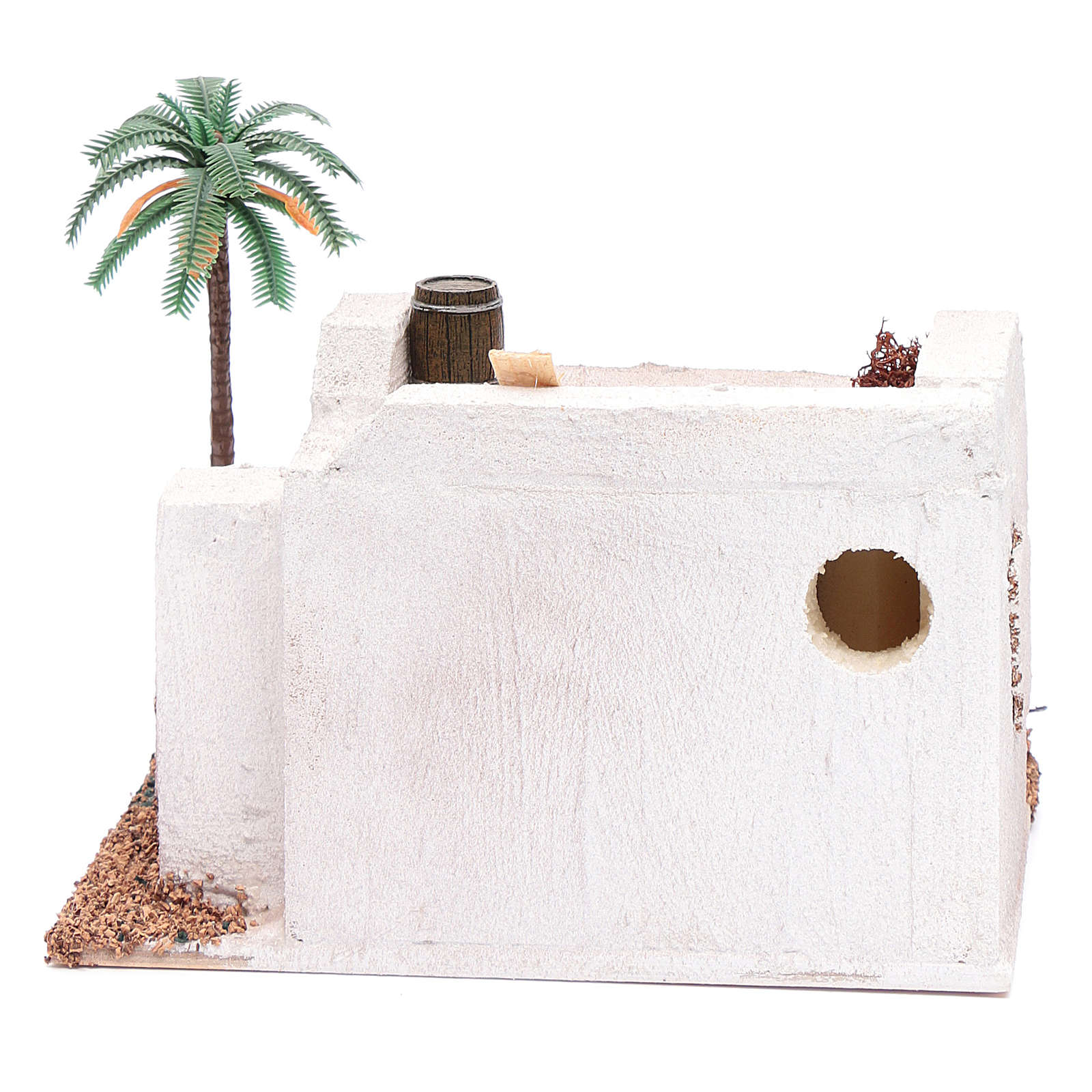 Casa Araba con palma e tenda da sole in polistirene 20x15xh.15 cm 4
