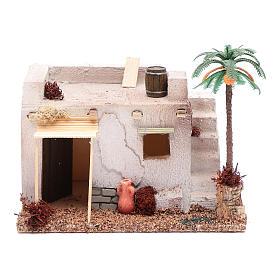 Casa Araba con palma e tenda da sole in polistirene 20x15xh.15 cm s1
