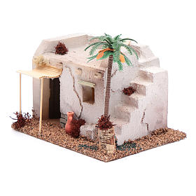 Casa Araba con palma e tenda da sole in polistirene 20x15xh.15 cm s2