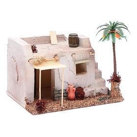 Casa Araba con palma e tenda da sole in polistirene 20x15xh.15 cm s3