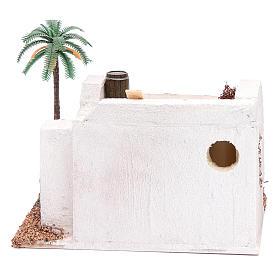 Casa Araba con palma e tenda da sole in polistirene 20x15xh.15 cm s4
