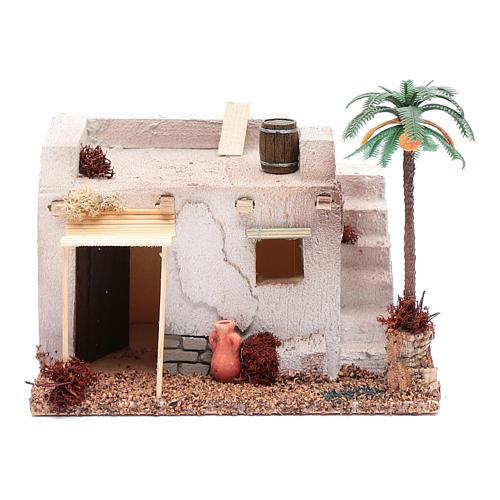 Casa Araba con palma e tenda da sole in polistirene 20x15xh.15 cm 1