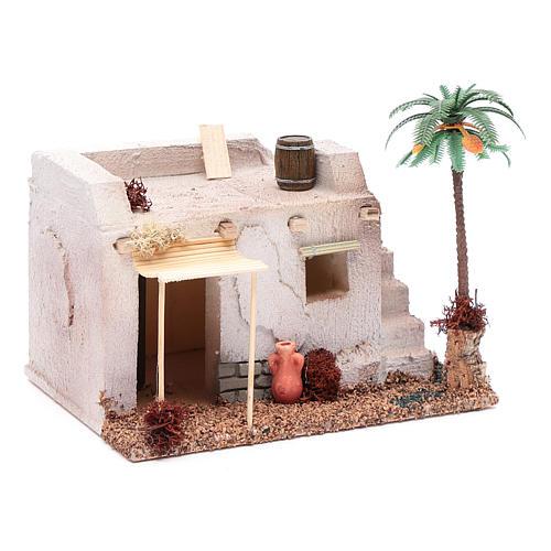 Casa Araba con palma e tenda da sole in polistirene 20x15xh.15 cm 3
