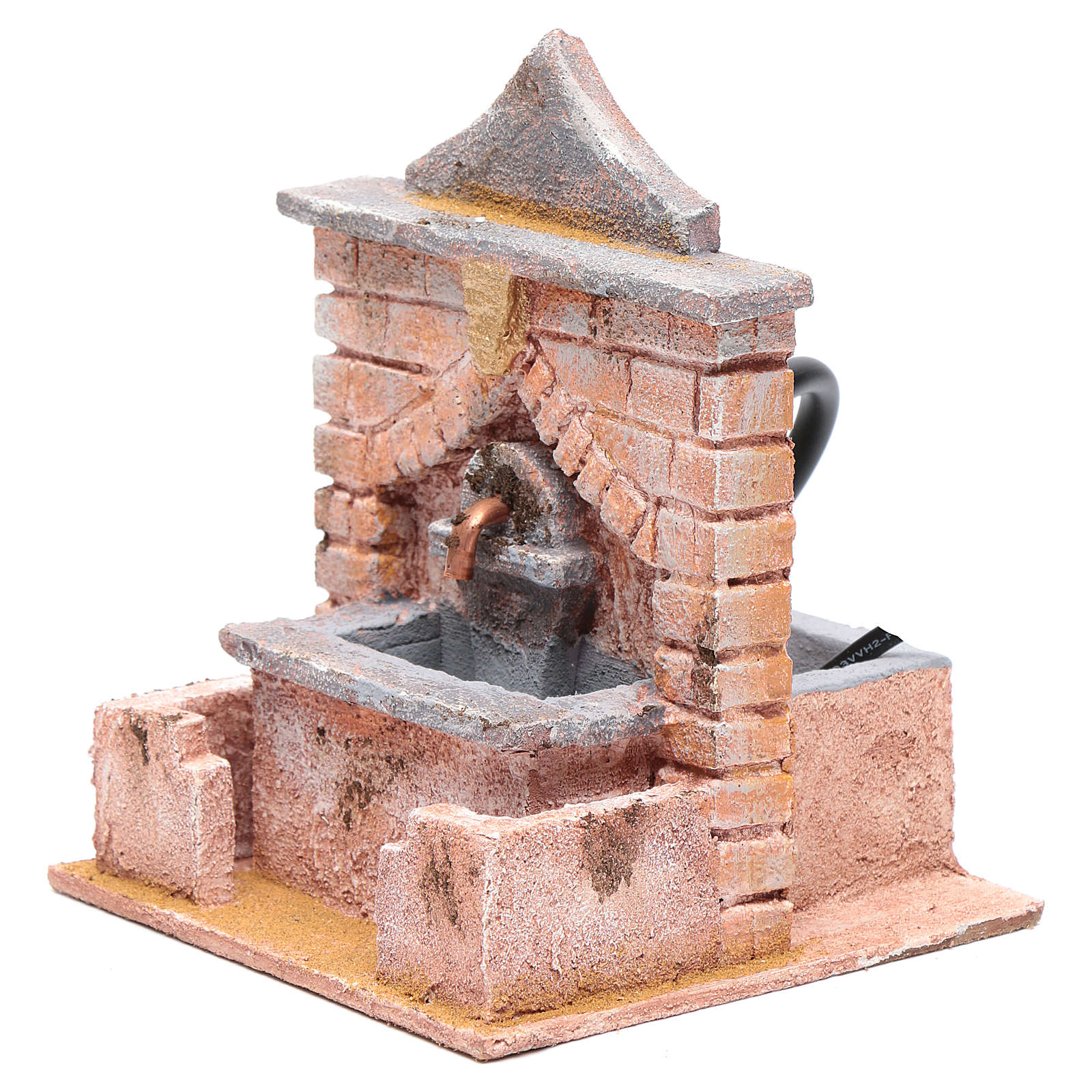 Fountain with pump 20x15x15 cm 4