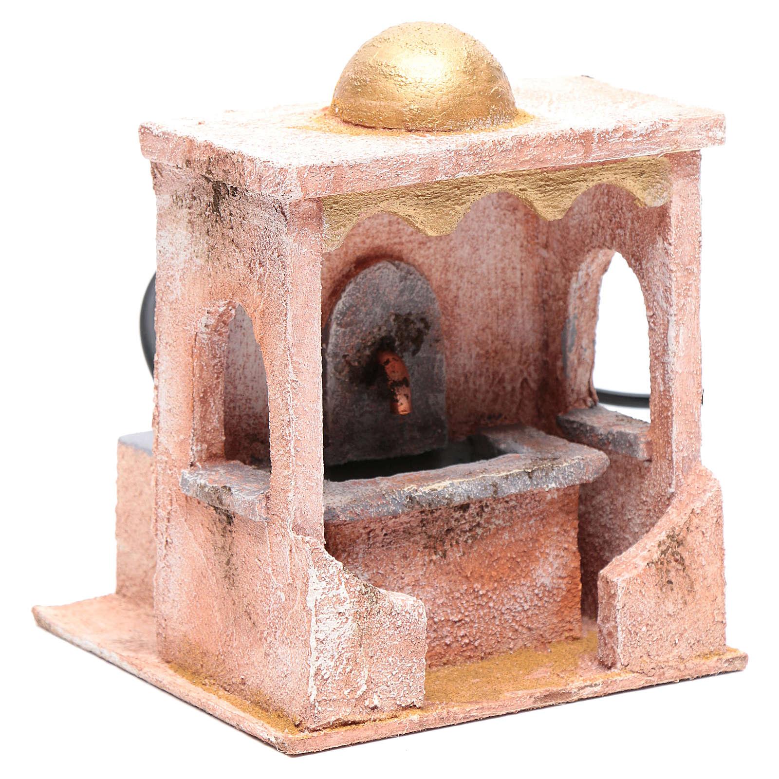 Fontaine avec pompe 20x15x15 cm mur pierre 4