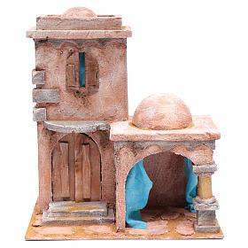 Casetta di stile arabo con porticato 35x30x20 cm s1