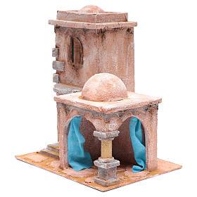 Casetta di stile arabo con porticato 35x30x20 cm s2