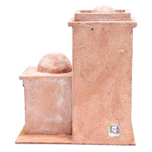 Casetta di stile arabo con porticato 35x30x20 cm 4