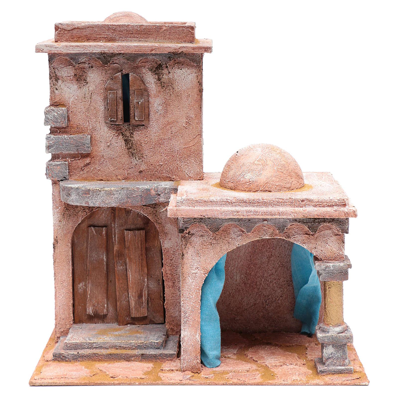 Casetta di stile arabo con porticato 40x35x25 cm 4