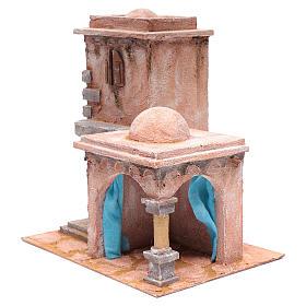 Casetta di stile arabo con porticato 40x35x25 cm s2