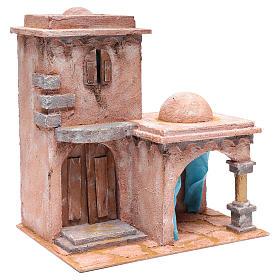 Casetta di stile arabo con porticato 40x35x25 cm s3