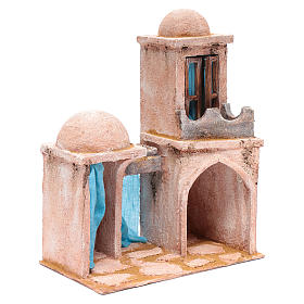 Casetta di stile arabo con balconcino 30x25x15 cm s3