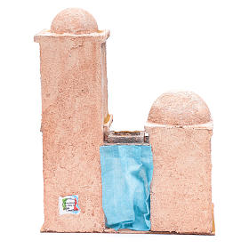 Casetta di stile arabo con balconcino 30x25x15 cm s4