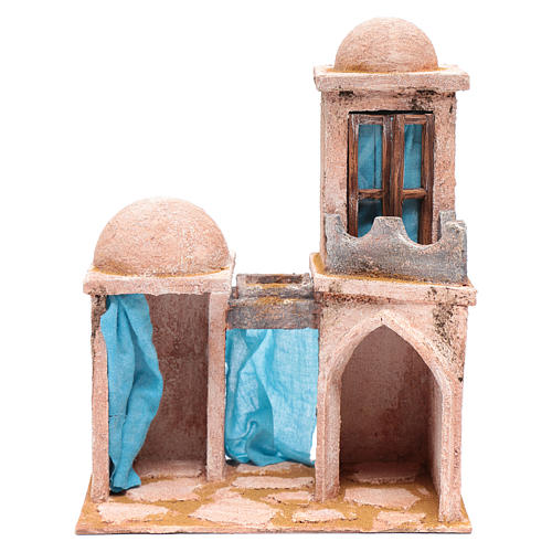 Casetta di stile arabo con balconcino 30x25x15 cm 1