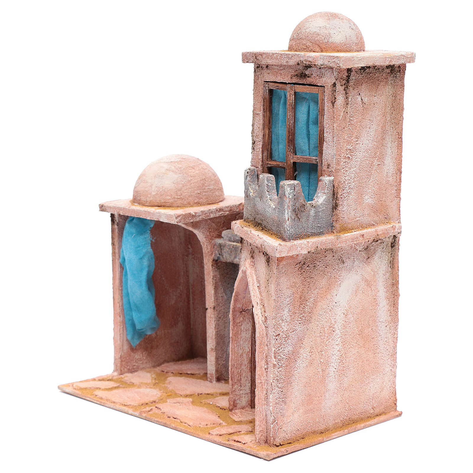 Casetta di stile arabo con balconcino 38x29x18 cm 4