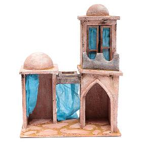 Casetta di stile arabo con balconcino 38x29x18 cm s1
