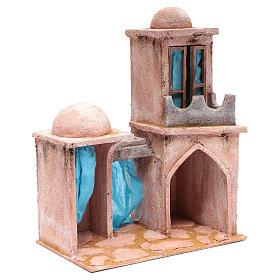 Casetta di stile arabo con balconcino 38x29x18 cm s3