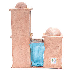 Casetta di stile arabo con balconcino 38x29x18 cm s4