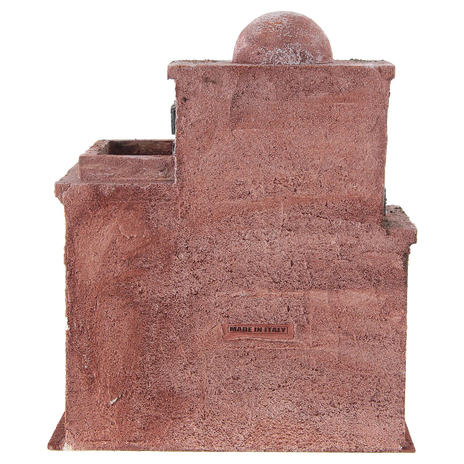 Casetta di stile arabo con terrazza 30x25x15 cm 4