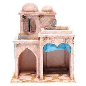 Casetta di stile arabo con terrazza 30x25x15 cm s1