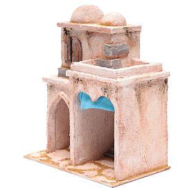 Casetta di stile arabo con terrazza 30x25x15 cm s2