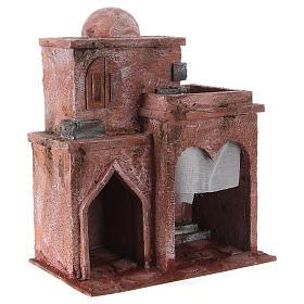 Casetta di stile arabo con terrazza 30x25x15 cm s3