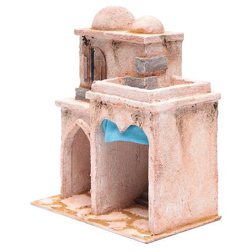 Casetta di stile arabo con terrazza 30x25x15 cm 2