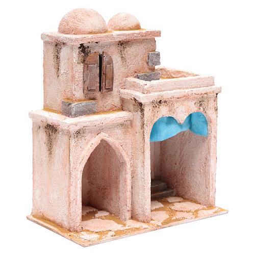 Casetta di stile arabo con terrazza 30x25x15 cm 3