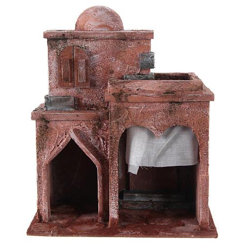 Casetta di stile arabo con terrazza 30x25x15 cm 1