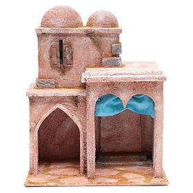 Casetta di stile arabo con terrazza 35x30x20 cm s1
