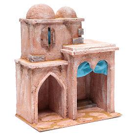 Casetta di stile arabo con terrazza 35x30x20 cm s3