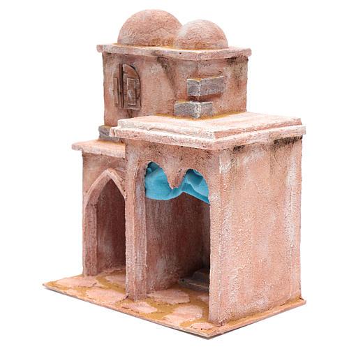 Casetta di stile arabo con terrazza 35x30x20 cm 2